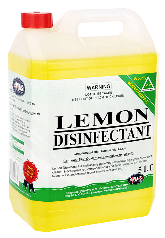 Lemon Disinfectant A Plus Chemicals Western Australia
